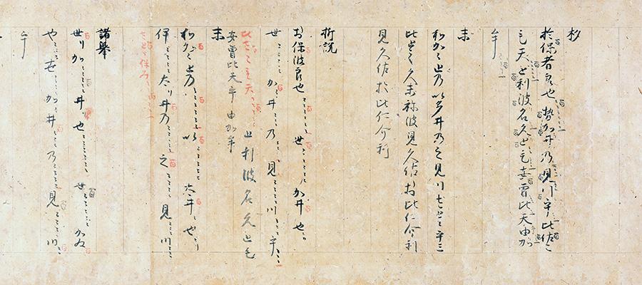 国宝 神楽和琴秘譜 伝藤原道長筆 平安時代 (後期)