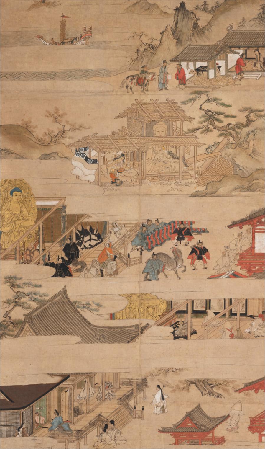 誓願寺縁起絵(部分)誓願寺 通期